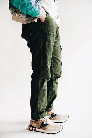 kapital Light Canvas RINGOMAN Cargo Pants - Khaki