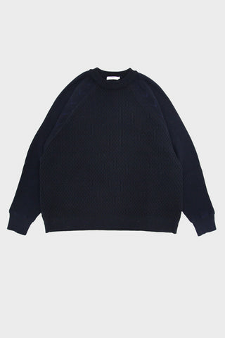 yashiki Donten Knit sweater - Navy