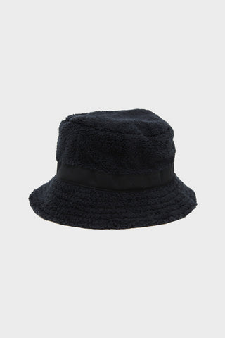 cableami Boa Fleece Bucket Hat - Black