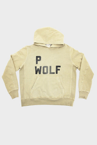 Remi Relief Special Finish Fleece Print P Wolf Hoodie - Cream