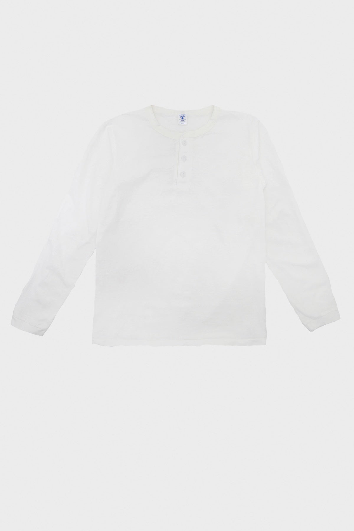 velva sheen Tubular Knit Henley - White