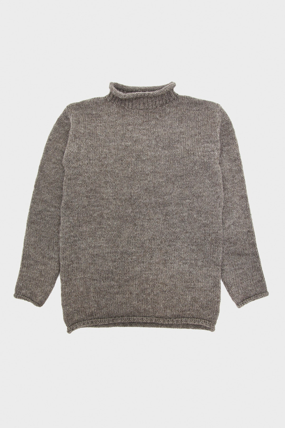 Full Count - Old Fisherman Wool Sweater - Heather Brown - Canoe Club