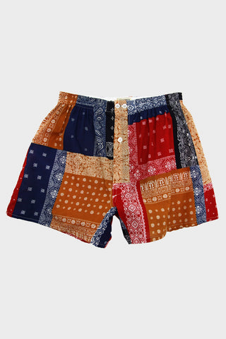 Anonymous Ism Patchwork Bandana Boxer - Multi