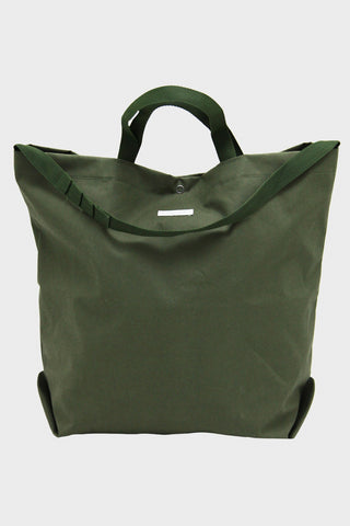 engineered garments Carry All Tote - Olive Coated Cotton