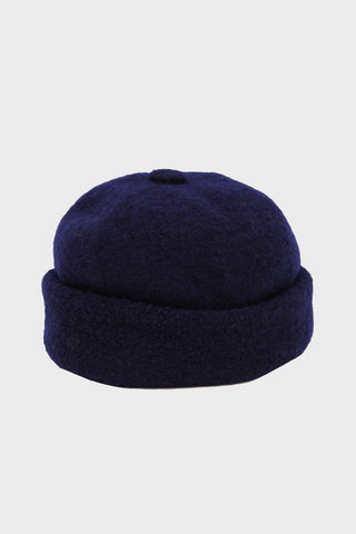 cableami Boiled Wool Cap - Navy