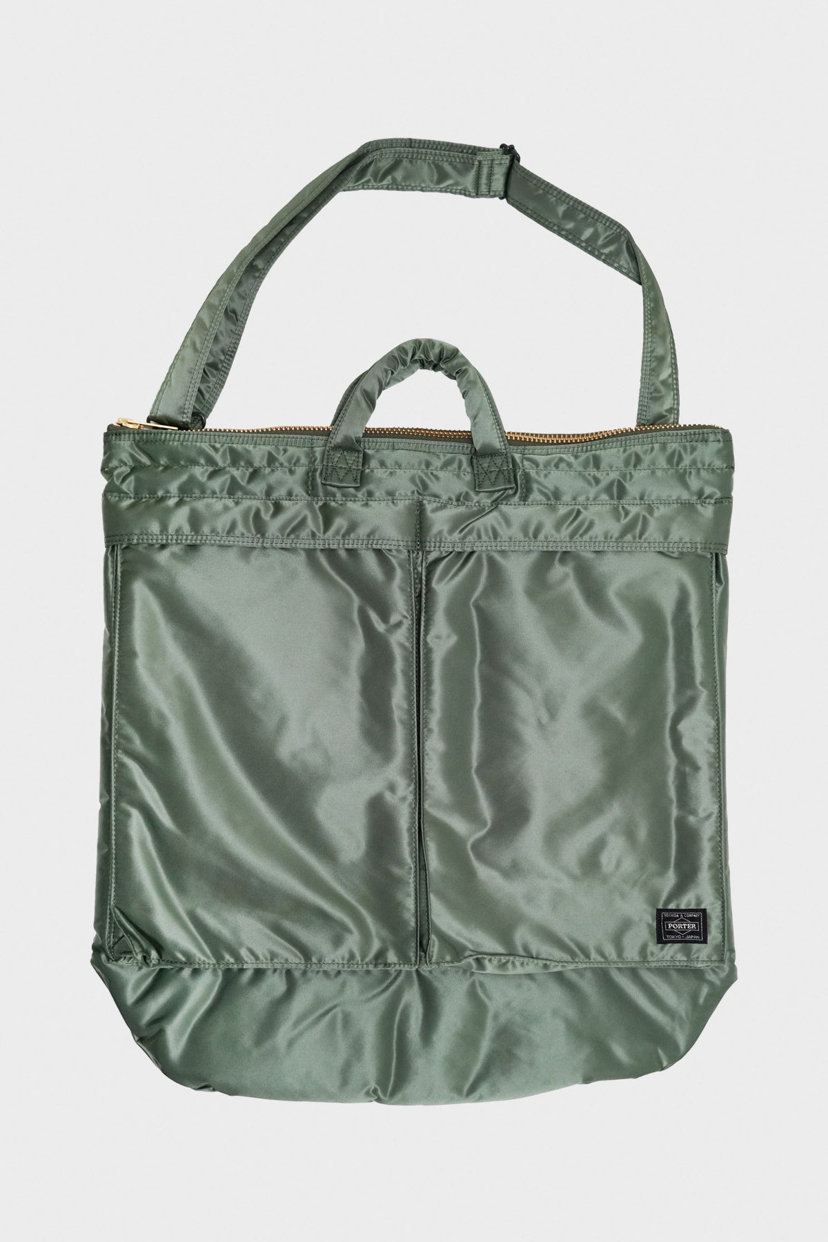 Porter Yoshida and Co - 2 Way Helmet Bag - Sage Green - Canoe Club