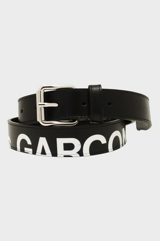 comme des garcons wallet Huge Logo Belt - Black