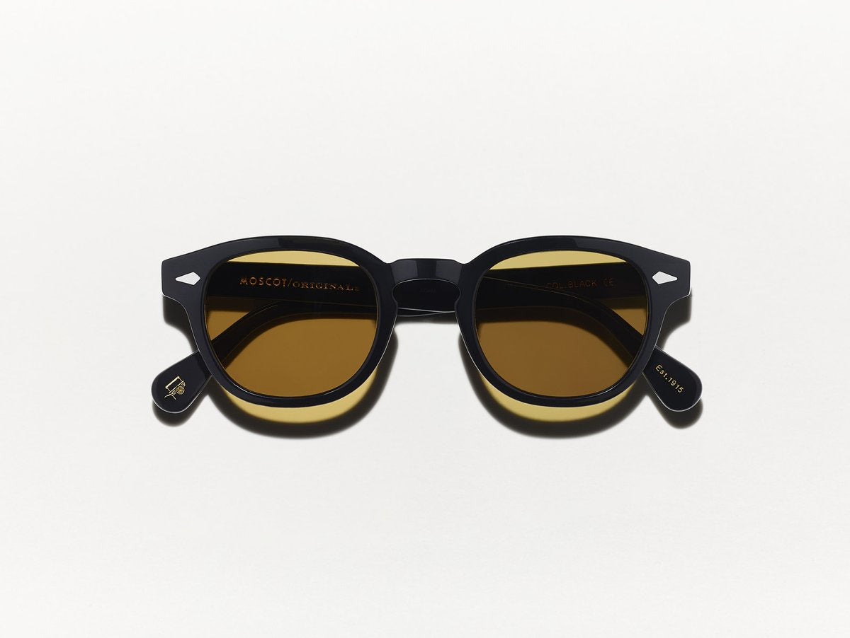 Moscot - Lemtosh - Black with Amber Tint - Canoe Club