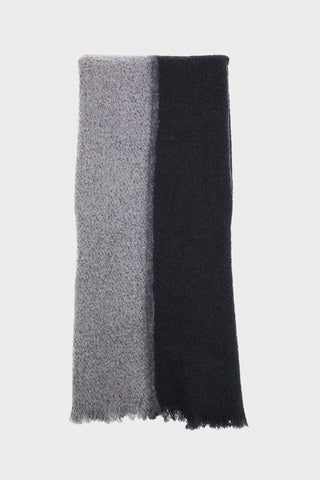 Destin Melisabi - Sciarpa Scarf - Grey/Off Black