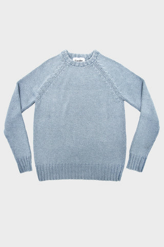 corridor clothing nyc Crew Neck Sweater - Bleached Indigo