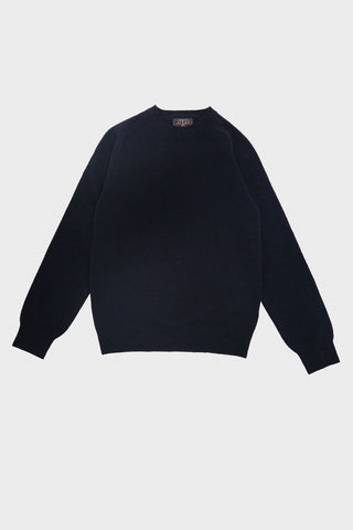 beams plus Crewneck Sweater  - Navy