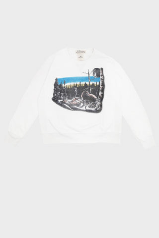 Remi Relief Special Finish Fleece Crew - Animal - Off White