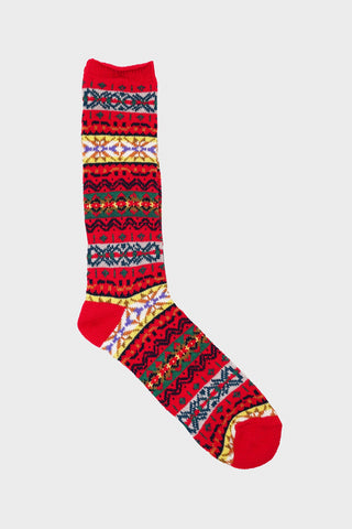 anonymous ism FairIsle Crew socks - Red