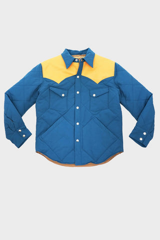 sugar cane clothing japan Western Padding Jacket - Blue/Camel
