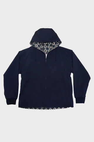 beams plus Reversible Zip Jacket - Navy