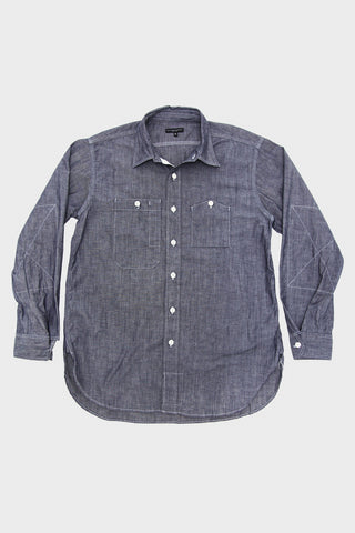 engineered garments Work Shirt - Indigo Cone Cotton Chambray