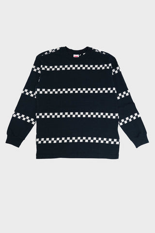 levi's vintage clothing 80's Long Sleeve Tee - Black Checker