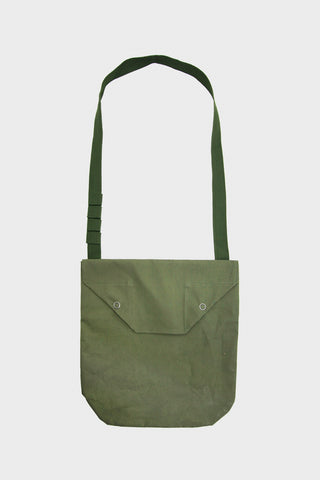 Shoulder Pouch - Olive Coated Cotton