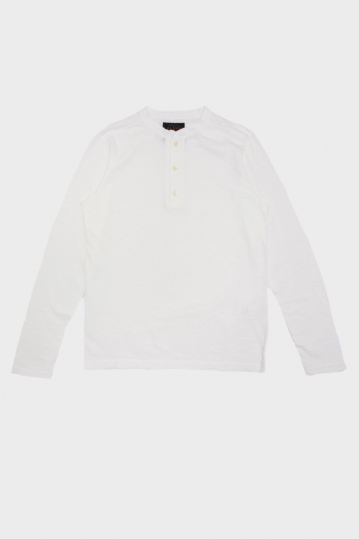 Beams Plus - Henley Neck Tee - Off White - Canoe Club