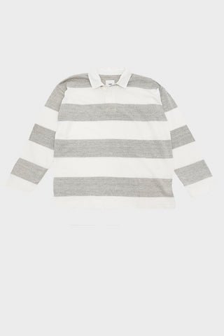 tss Extra Soft Border Stripe Rugby Shirt - Off White