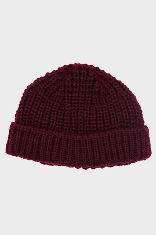 British Wool Short Hat - Burgundy