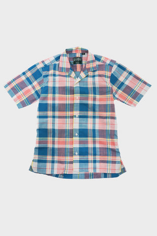 gitman bros. vintage Archive Cotton Madras camp shirt - Teal