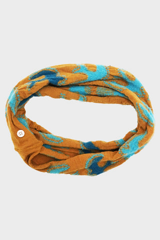 kapital Compressed Wool Thunderbird Necklace Scarf - Gold