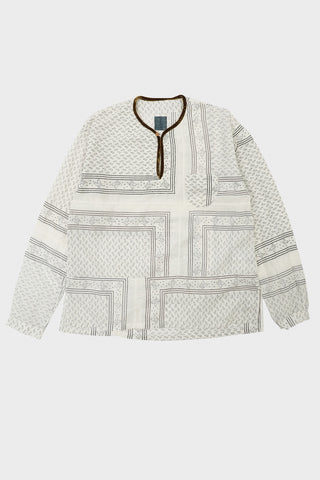visvim indigo camping trading post find your happiness I.C.T. Tunic P.O. - White