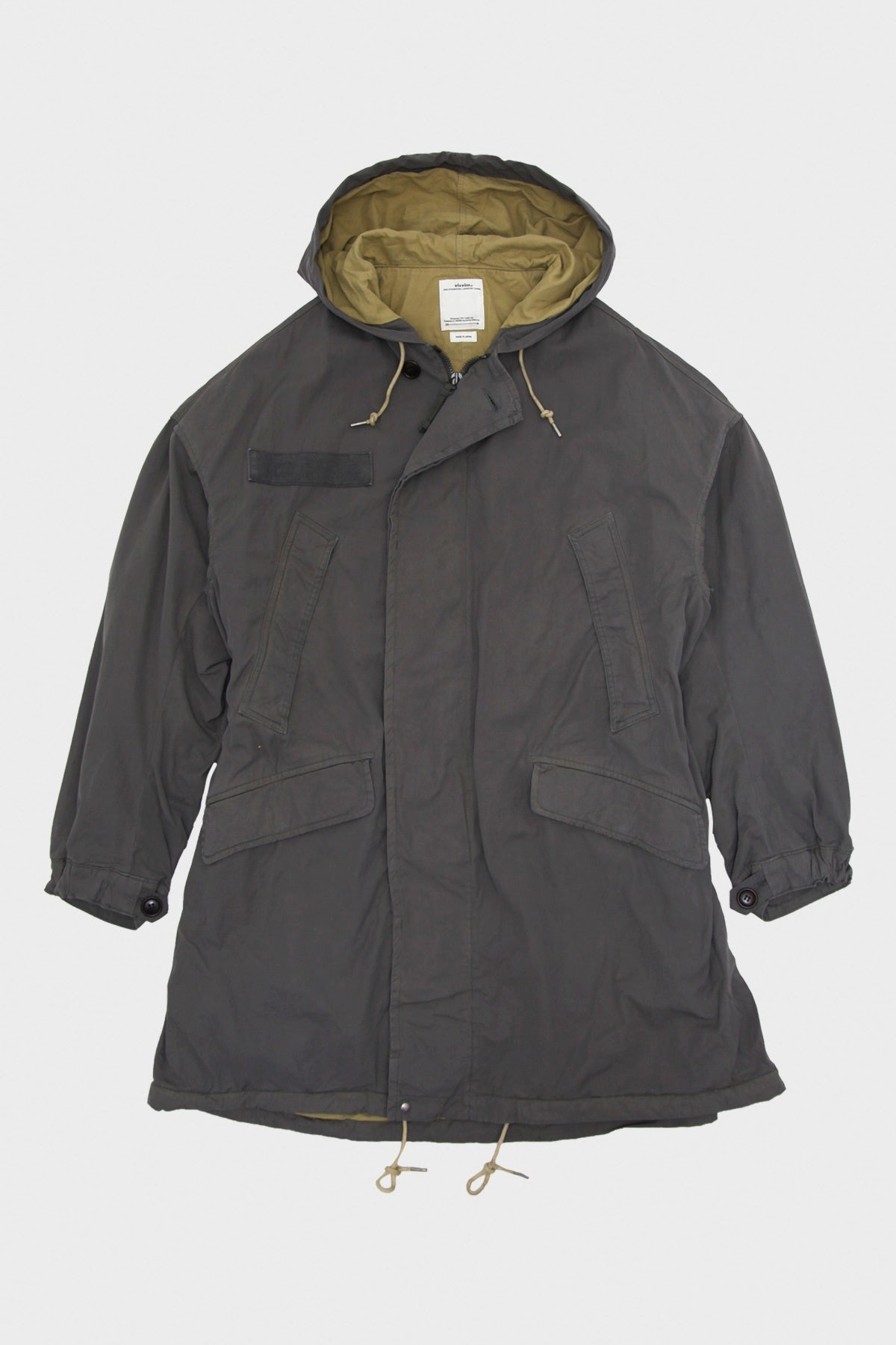 Visvim - Patterson Overcoat (C/NY) - Grey - Canoe Club
