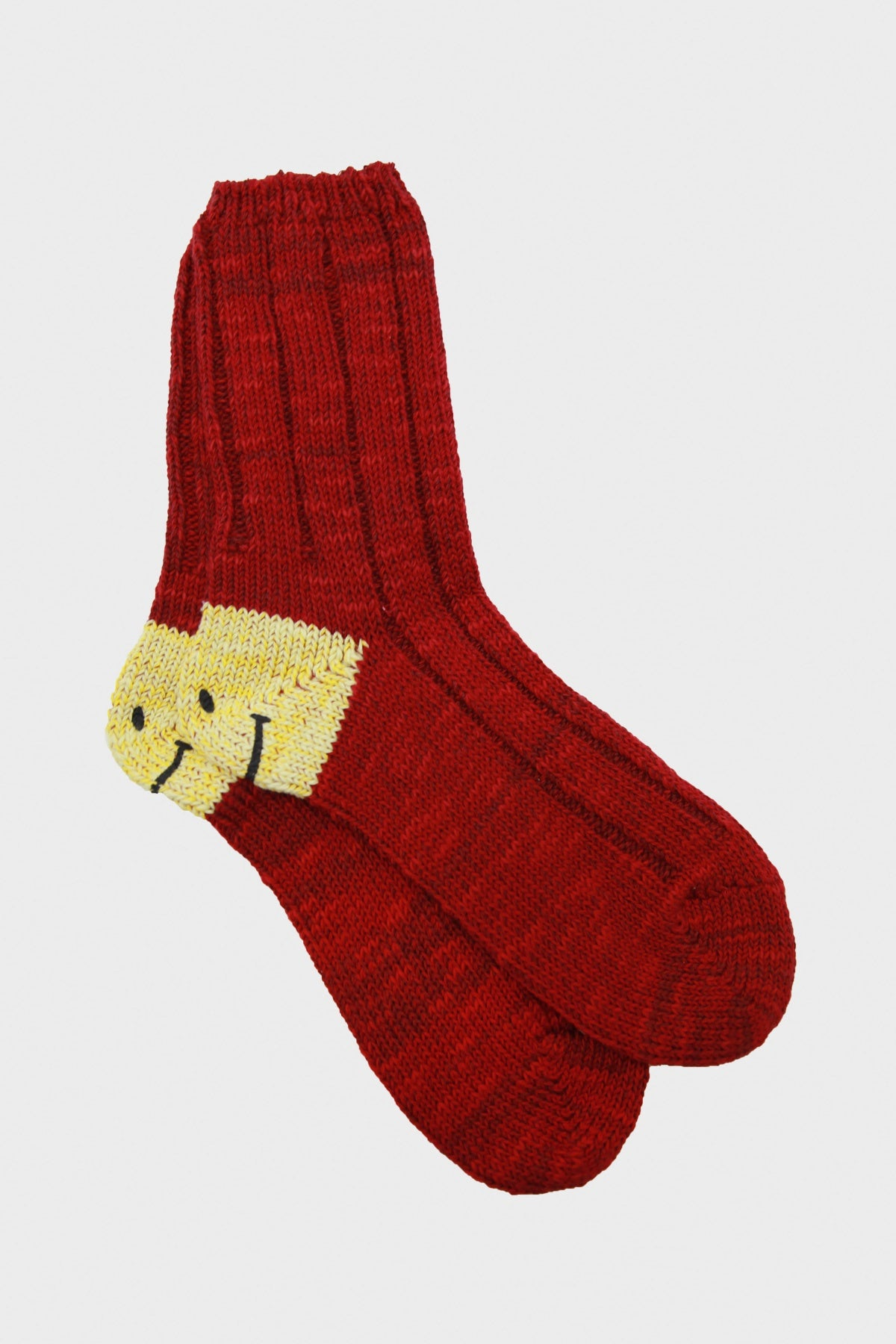 kapital 56 Yarns MA-1 Smilie Heel Socks - Burgundy