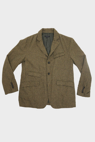 engineered garments Andover Jacket - Tan/Green Wool Gunclub Check