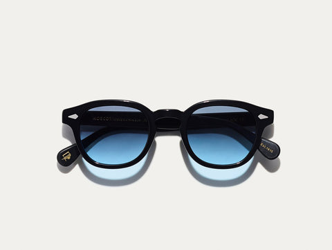 Lemtosh - Black with Denim Blue Lenses