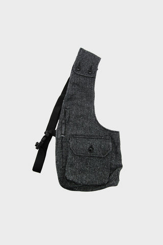 engineered garments Shoulder Vest - Grey Poly Wool Herringbone
