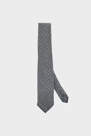 engineered garments Neck Tie - Grey Wool Poly Gunclub Check