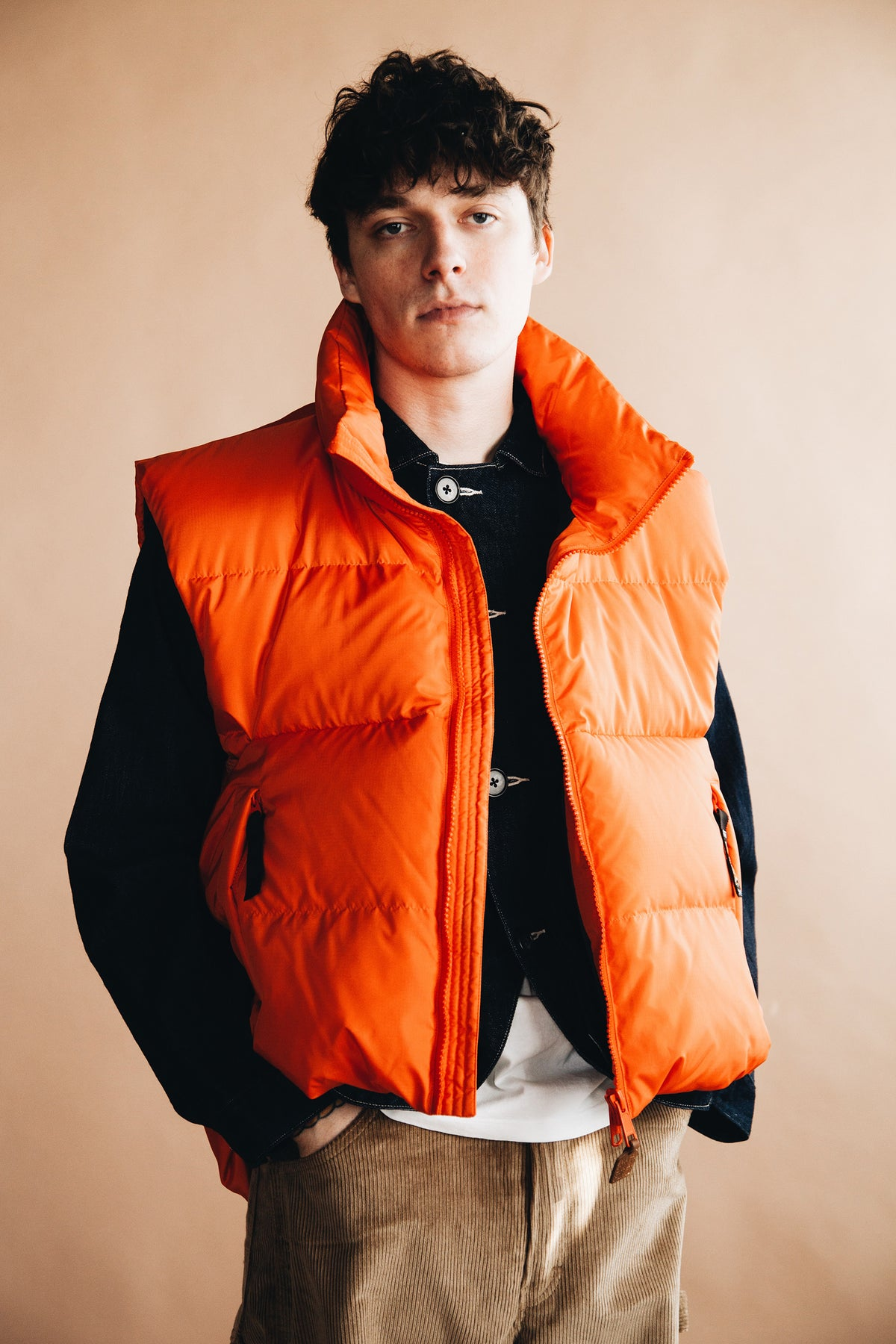 Kapital - Rip Stop Nylon Down BURGER KEEL Vest - Canoe Club