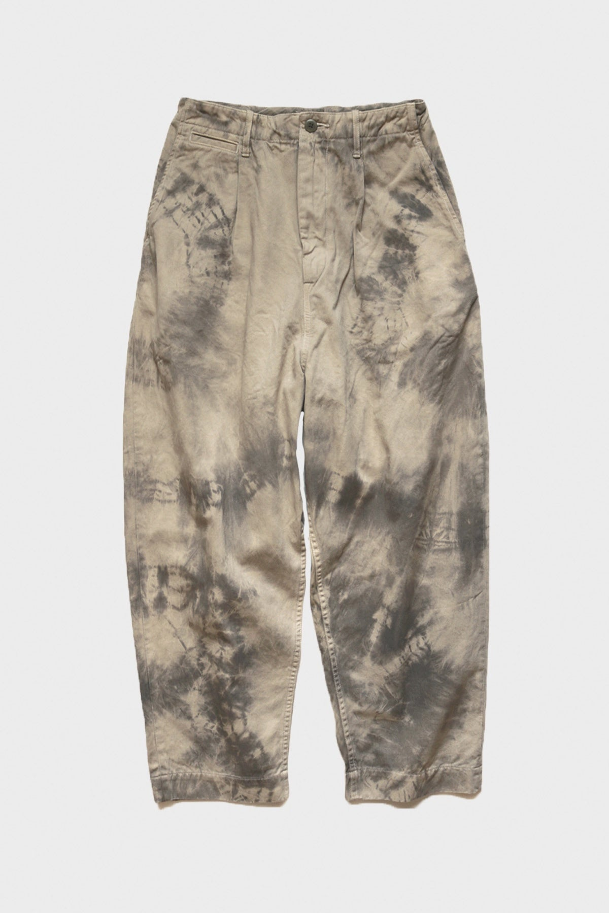 Kapital - Katsuragi High Waist NIME Pants (ASHBURY DYED) - Ecru/Grey - Canoe Club