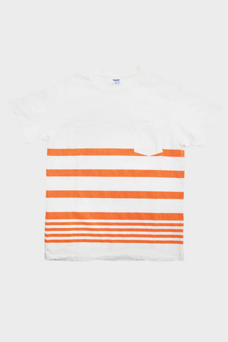 Narrow Wave Stripe Tee - White
