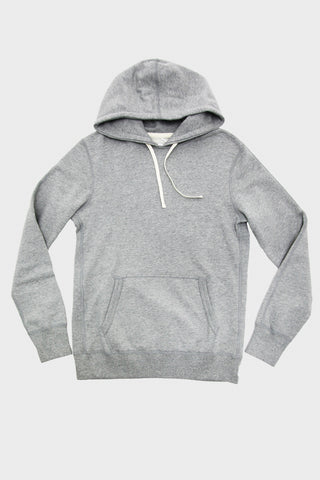 Mid Weight Terry Pullover Hoodie - Heather Grey