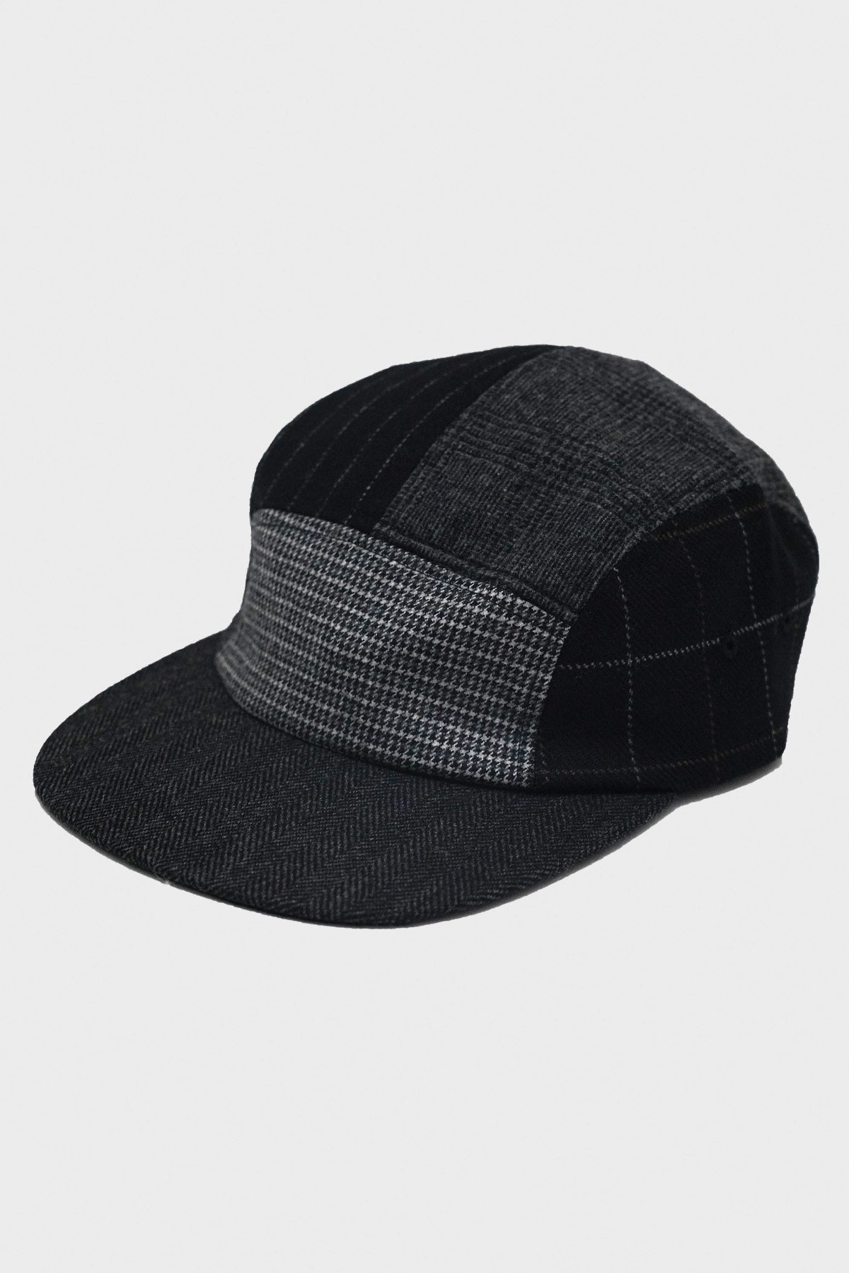 Beams Plus - 5 Panel Multi Pattern Cap - Black - Canoe Club