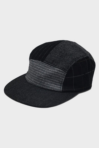 beams plus 5 Panel Multi Pattern Cap - Black