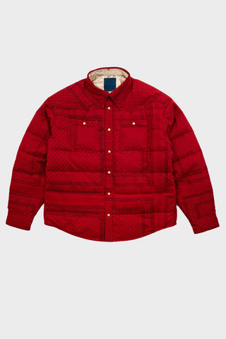 visvim indigo camping trading post find your happiness I.C.T. Kerchief Down Jacket - Red