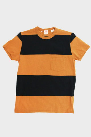 levi's vintage clothing lvc 1960's Casuals Stripe Tee - Black Gold Multi