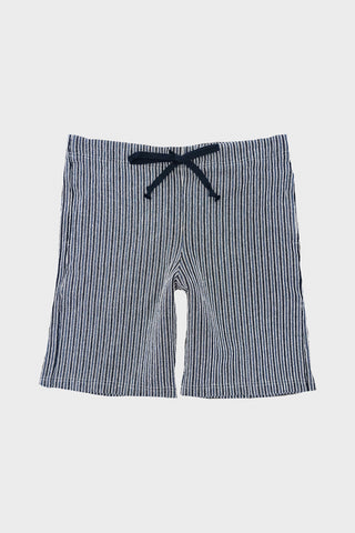 tss Combination Stripe Sweat Shorts - Navy/Blue