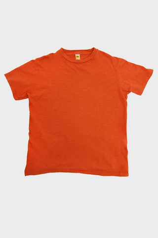 Velva Sheen Short Sleeve Rolled Tee - Orange