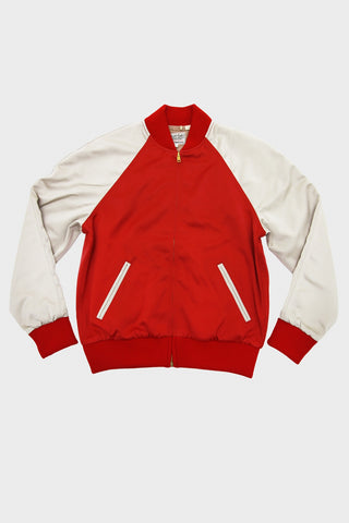 Levi's Vintage clothing climate seal bomber jacket in red.