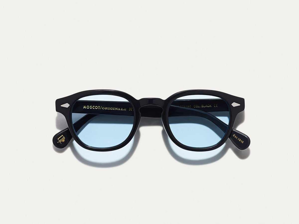 Moscot - Lemtosh - Black with Bel Air Blue Lenses - Canoe Club