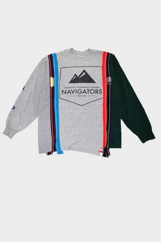 needles clothing japan 7 Cuts Long Sleeve Tee - College - Assorted #3 - Large