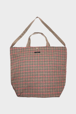 engineered garments Carry All Tote - Tan/Orange Wool Big Gunclub Check