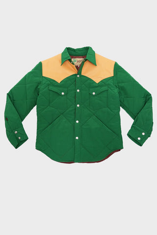 sugar cane clothing japan Western Padding Jacket - Green/Camel