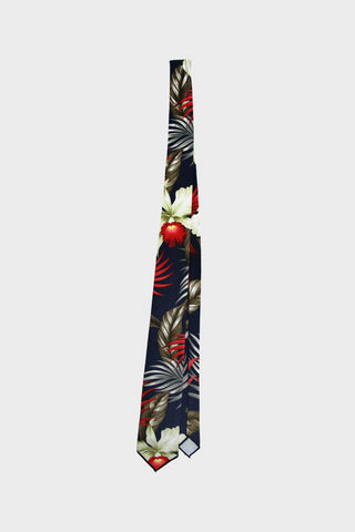 engineered garments Neck Tie - Navy Hawaiian Floral Java Cloth